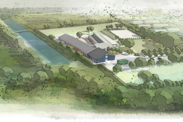 Artist Impression of the completed project from a different view